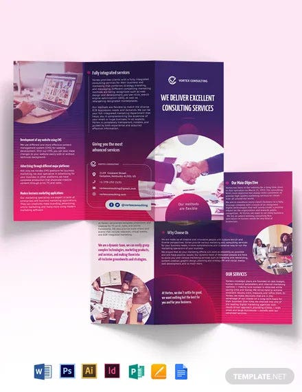 Consulting Services Tri-Fold Brochure Template