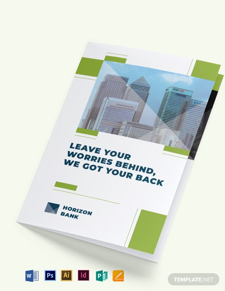 Banking Bi-Fold Brochure Template