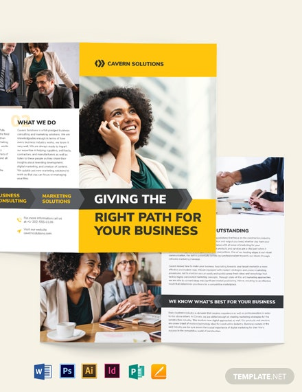 Business Analyst Bi-Fold Brochure Template