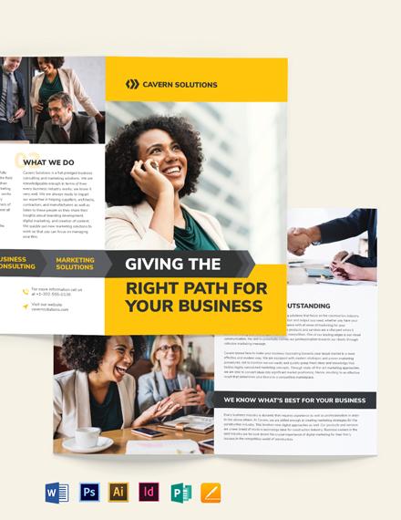 Business Analyst Bi-Fold Brochure Template