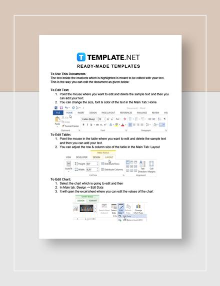 Simple Balance Sheet Instructions