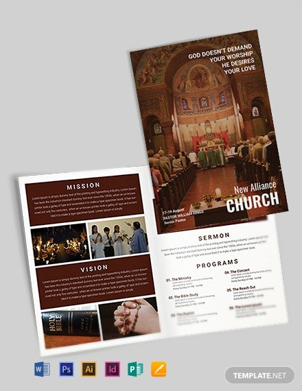 free modern church a4 brochure template 440x570 1