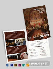 Free Modern Church A4 Brochure Template