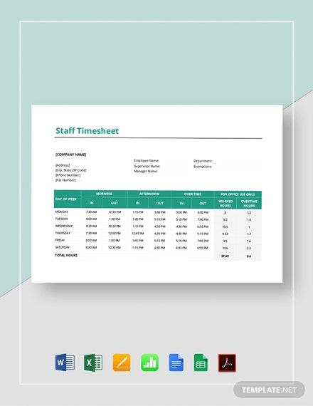 Staff Timesheet