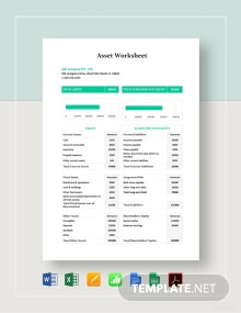 Asset Worksheet Template