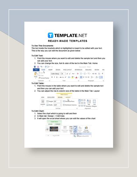 Travel Budget Worksheet Instructions