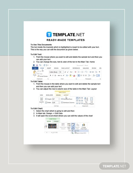 Training Sheet Instructions
