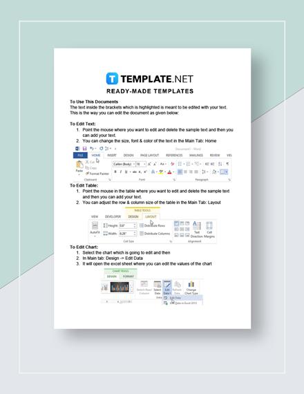 Trial Balance Sheet Instructions