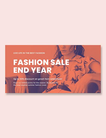Free Minimalistic Fashion Sale Blog Post Template
