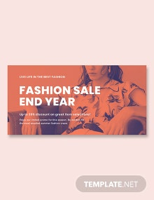 Free Minimalistic Fashion Sale Blog Post Template