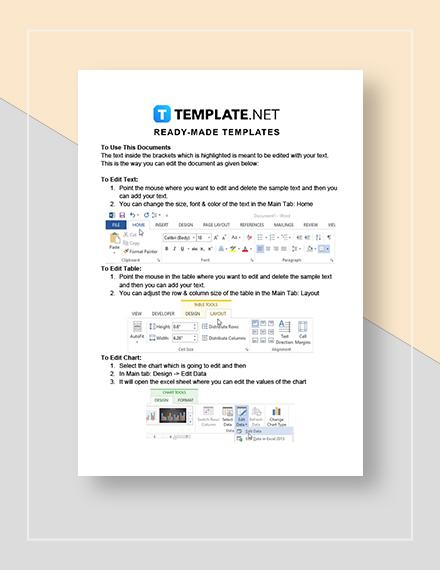 Activity Planning Sheet Instructions