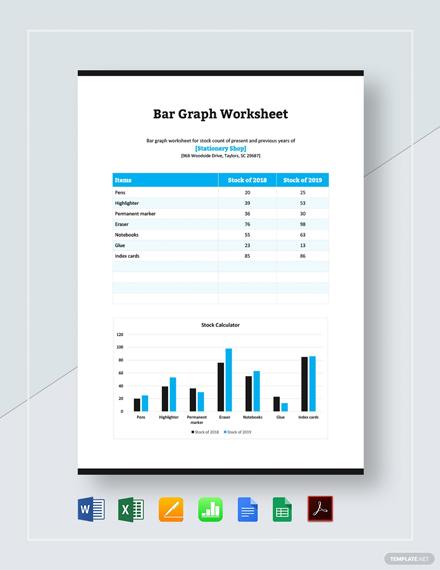 Bar Graph Worksheet Template