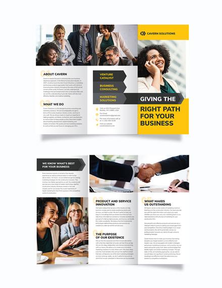 Business Analyst Tri-Fold Brochure Template
