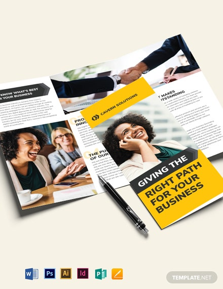 Business Analyst Tri-Fold Brochure Template