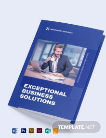 Business Company Bi-Fold Brochure Template