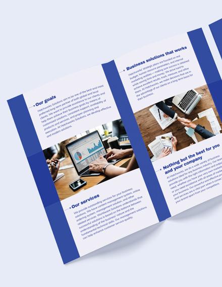 Editable Business Company BiFold Brochure Template