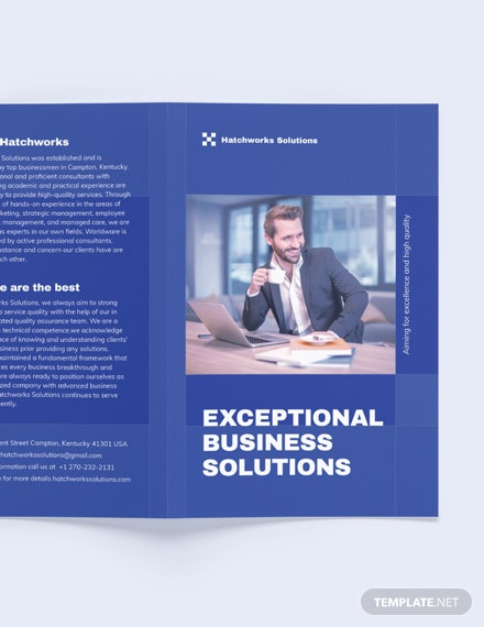 Printable Business Company BiFold Brochure Template
