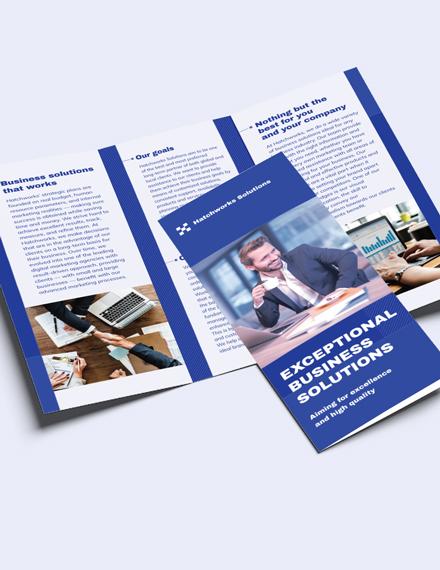 Business Company TriFold Brochure Edit