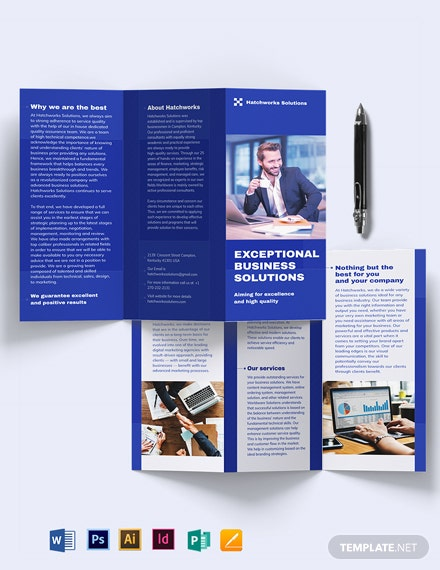business company tri fold brochure template edit