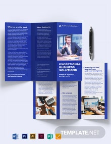 Business Company Tri-Fold Brochure Template