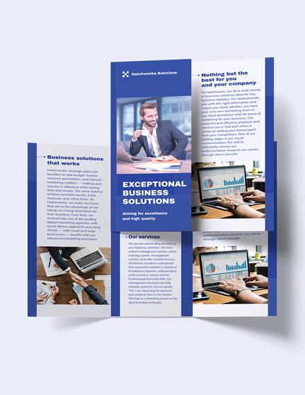 Business Company TriFold Brochure Print
