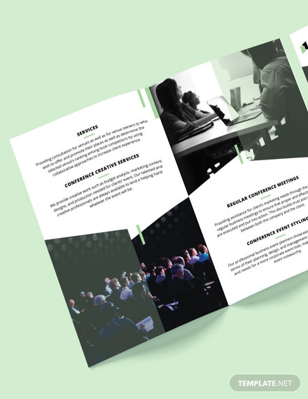 Event Conference BiFold Brochure Template A