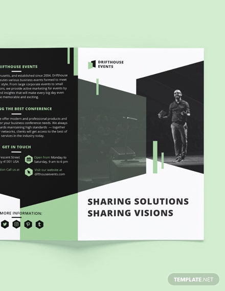 Printable Event Conference BiFold Brochure