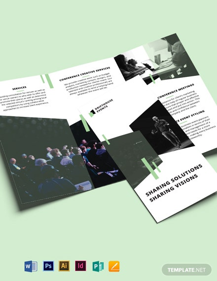 Event Conference Tri-Fold Brochure Template