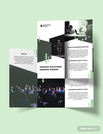 Editable Event Conference TriFold Brochure Template