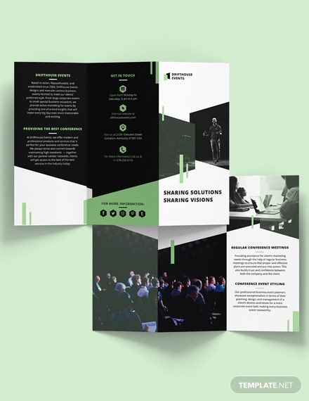 Sample Event Conference TriFold Brochure Template