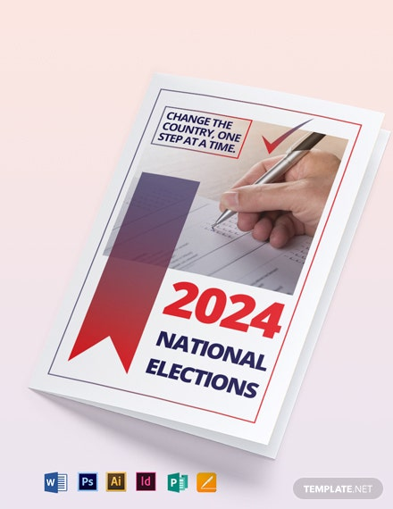 Election Bi-Fold Brochure Template