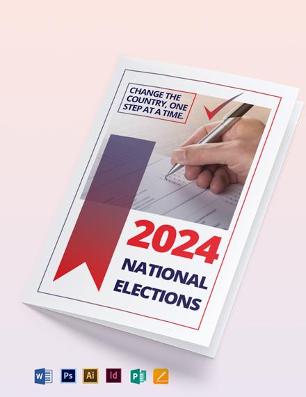 Election Bi-Fold Brochure Template