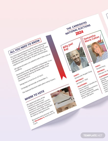Election BiFold Brochure Template