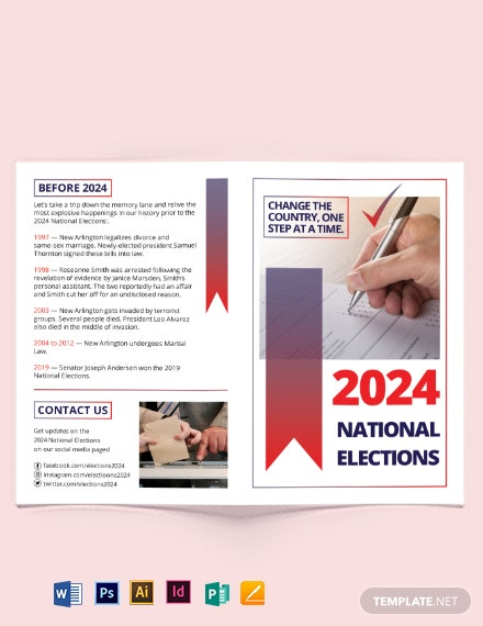 election bi fold brochure