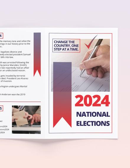 Printable Election BiFold Brochure Template