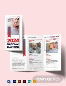 Election Tri-Fold Brochure Template