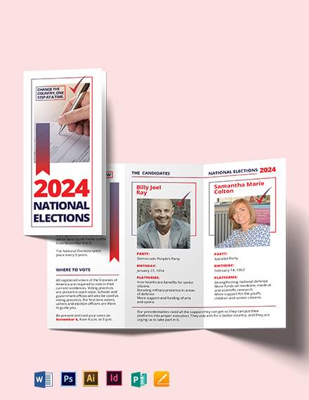 Election Tri-Fold Brochure Template