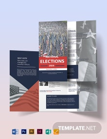 Election Campaign Tri-Fold Brochure Template