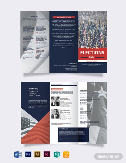 election campaign tri fold brochure