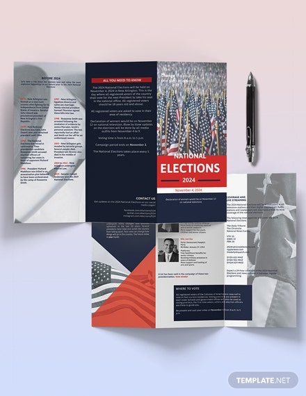 Election Campaign TriFold Brochure Template