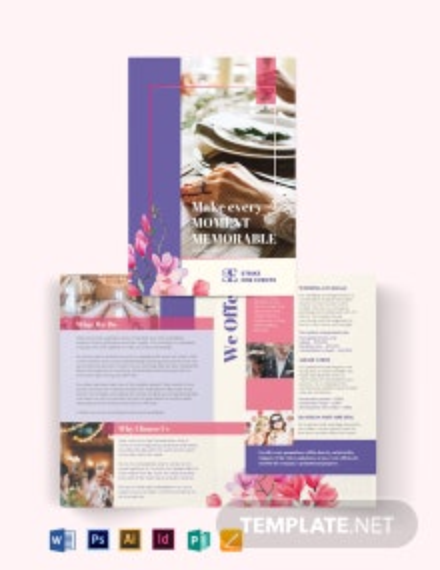Event Company Bi-Fold Brochure Template