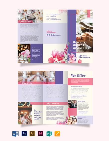 Event Company Tri-Fold Brochure Template