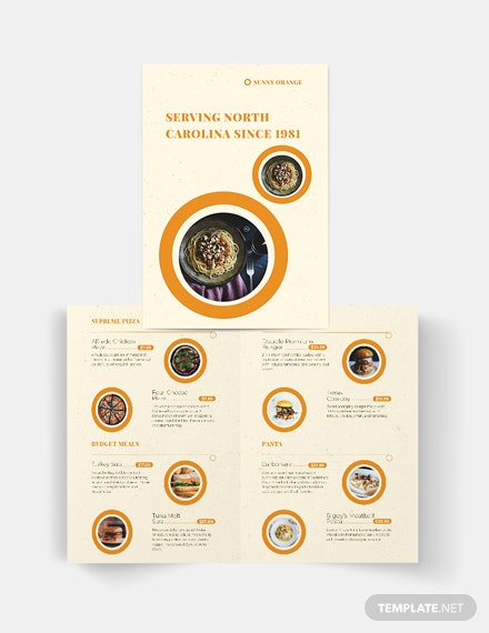 Fast Food Bi-Fold Brochure Template