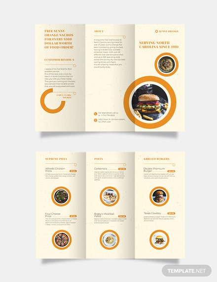 Fast Food Tri-Fold Brochure Template