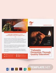 Fire Safety Bi-Fold Brochure Template
