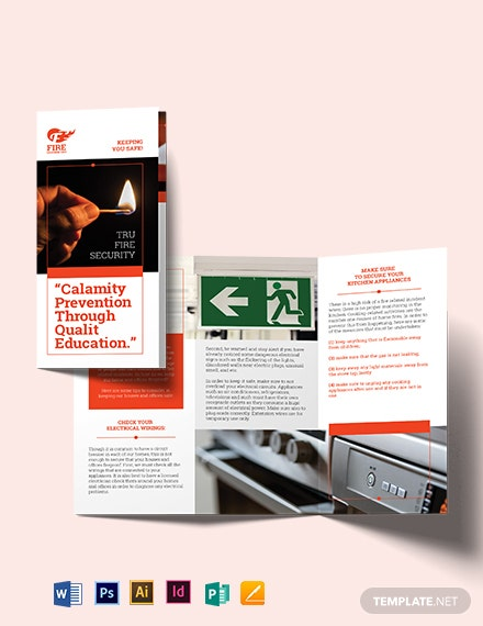 fire safety tri fold brochure