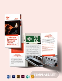 Fire Safety Tri-Fold Brochure Template