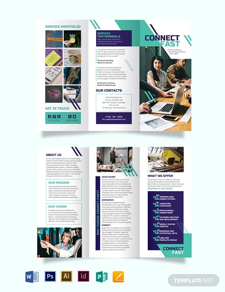 Folded Tri-Fold Brochure Template