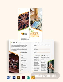 Fundraising Event Bi-Fold Brochure Template