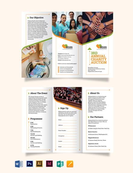 Fundraising Event Tri-Fold Brochure Template